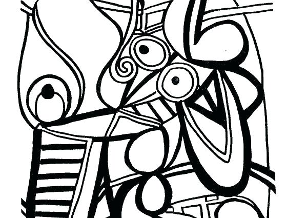 599x425 Pablo Picasso Coloring Pages Coloring Pages Adult Coloring Pages