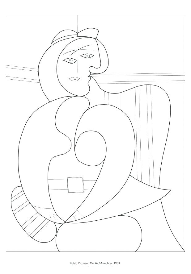 618x888 Pablo Picasso Coloring Pages Coloring Sheets Pablo Picasso
