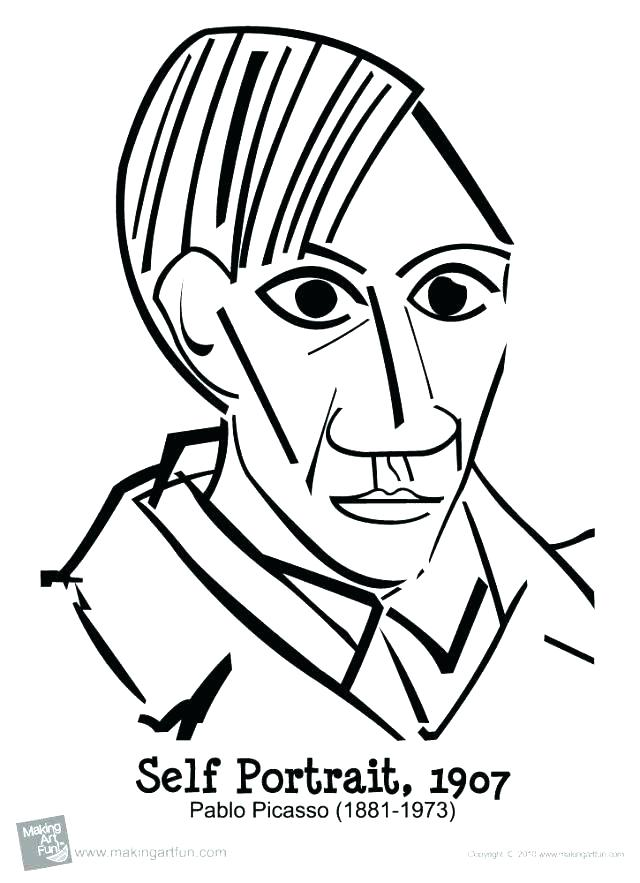 640x883 Pablo Picasso Coloring Pages Medium Size Of Cubism Coloring Pages