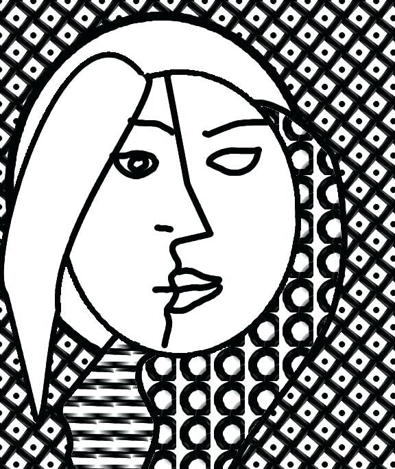 576x683 Pablo Picasso Coloring Pages Your Creations You Have Colored This