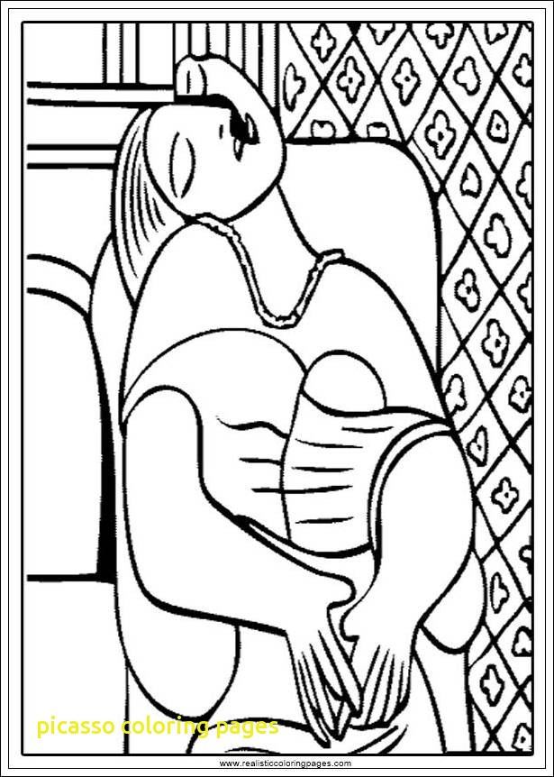 615x862 Picasso Coloring Pages With Coloring Pablo Picasso Coloring Pages