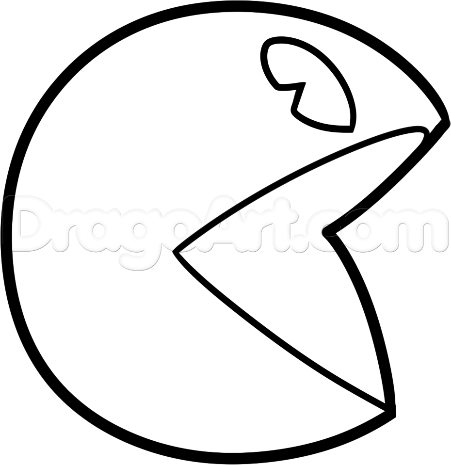 Pac Man Coloring Pages Free