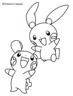236x308 Pachirisu Coloring Page Pokemon Party