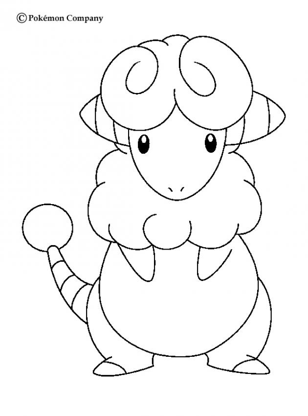 630x850 Flaaffy Coloring Pages