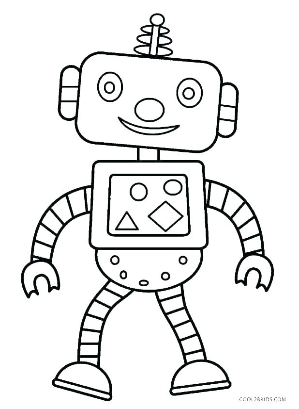 618x843 Robot Coloring Pages Robot With One Eye Coloring Page Robot