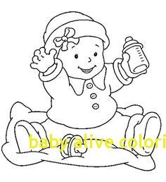 Pacifier Coloring Page