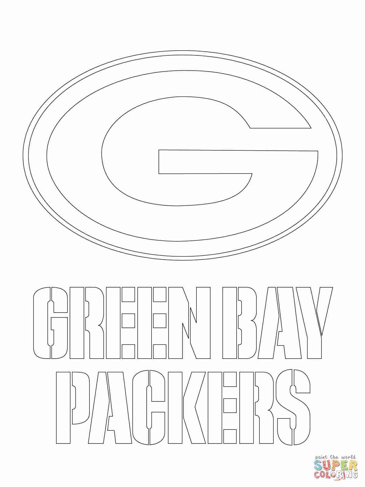 1200x1600 Green Bay Packers Logo Coloring Page Free Printable Pages