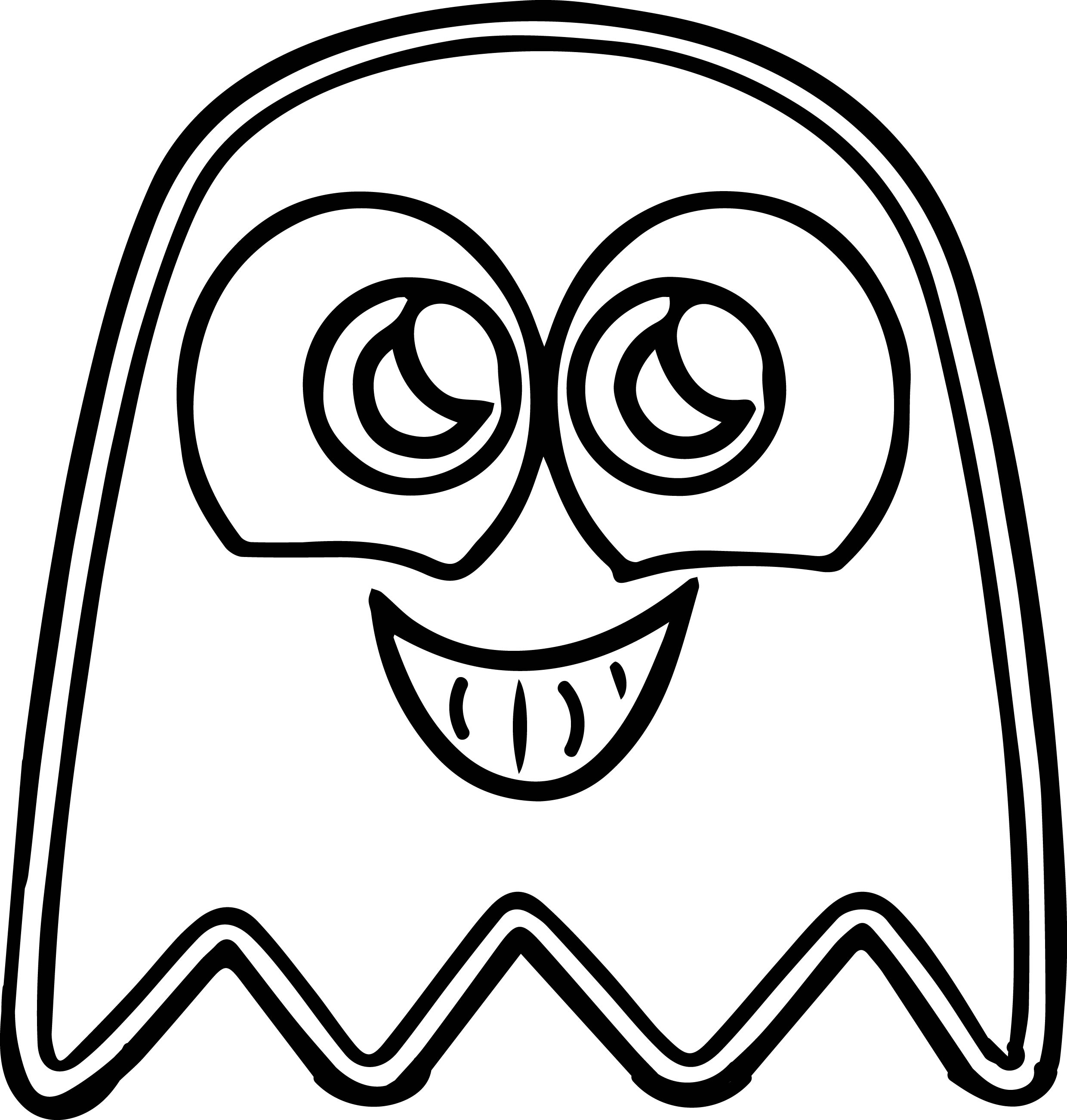 2480x2602 Pacman Cute Ghost Coloring Page Wecoloringpage