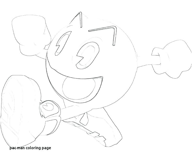 800x667 Pixels Coloring Pages Pacman Man Free Printable Page