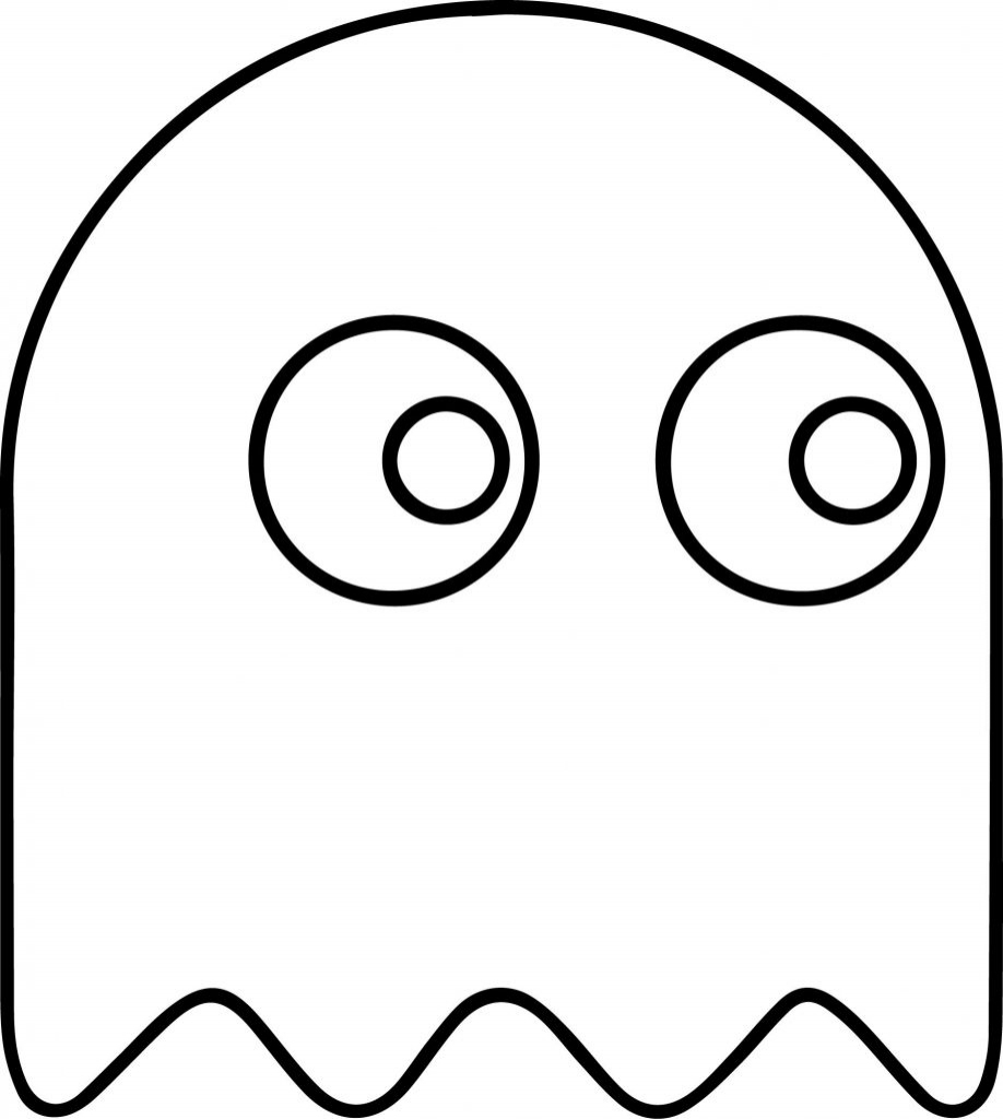 918x1024 Pac Man Coloring Pages
