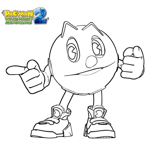 526x526 Pacman Game Coloring Pages On Colorear Dibujos