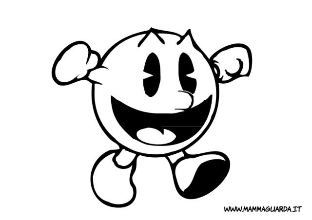 640x452 Pac Man Coloring Pages