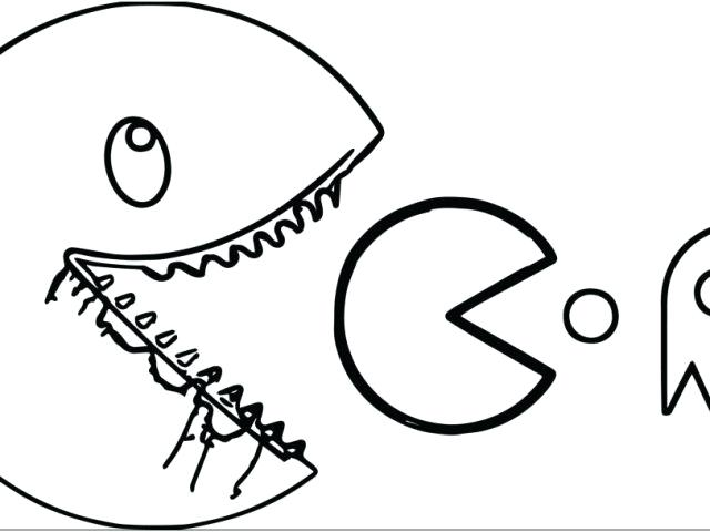 640x480 Pac Man Coloring Pages Ghost Coloring Pages Download