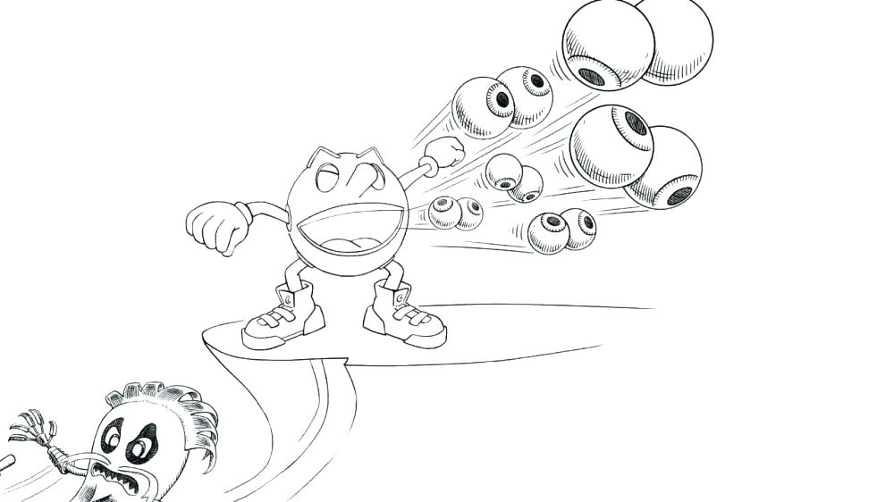 1000x562 Pac Man Coloring Pages Pac Man Printable Coloring Pages