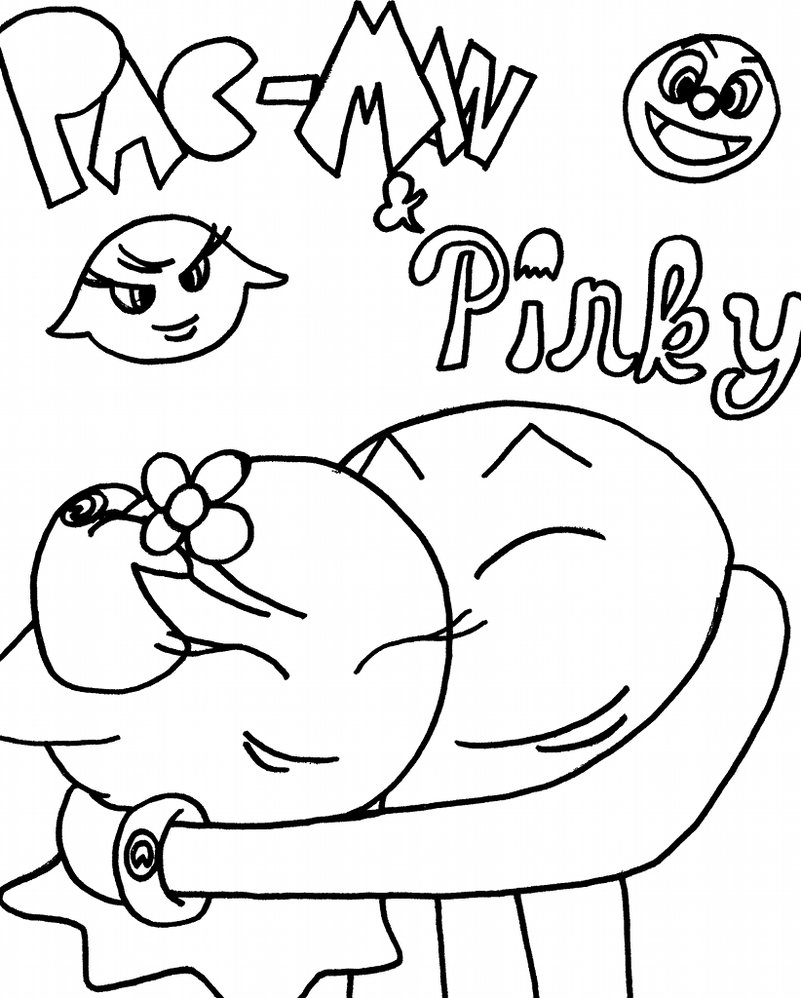 801x998 Pac Man Coloring Pages