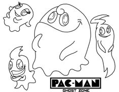 235x183 Pacman Ghost Zone Coloring Page Online Best Pac Man Coloring