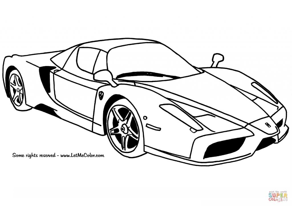 1024x724 Ferrari Enzo Car Coloring Page