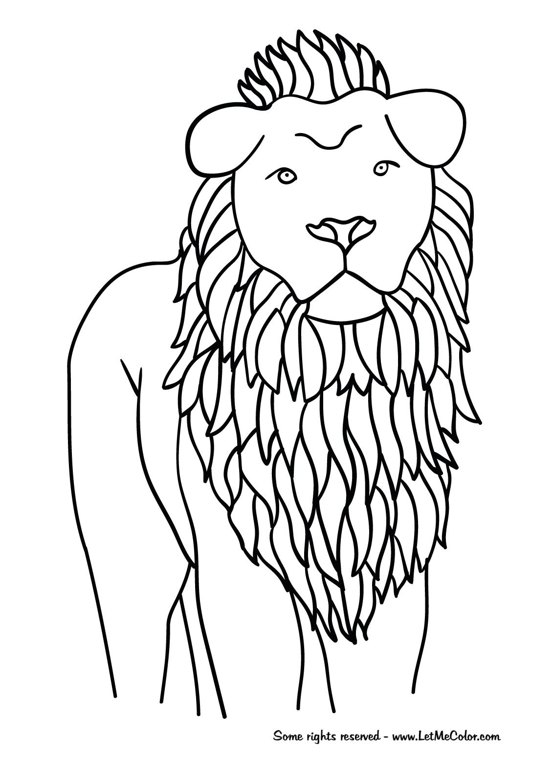 1131x1600 Lion Coloring Page