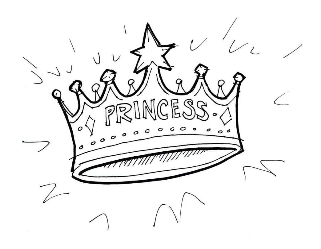 1043x811 Coloring Pages Christmas Tiara Princess Crown For Beauty Pageant