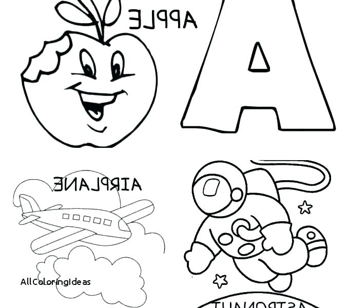 678x600 Abc Coloring Pages For Kindergarten Coloring Pages Letter A Letter