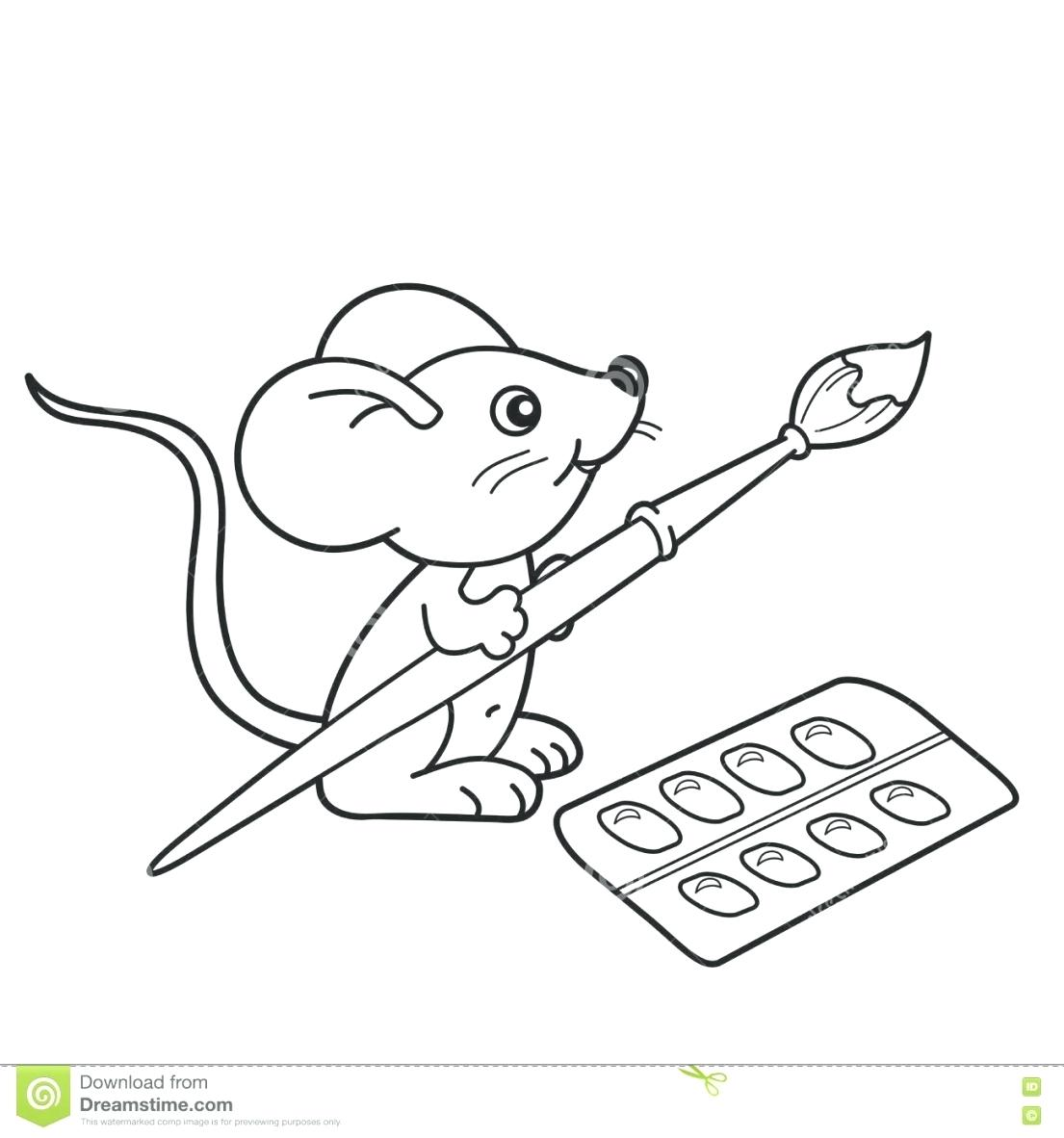 1105x1182 Complete Paint Brush Coloring Page