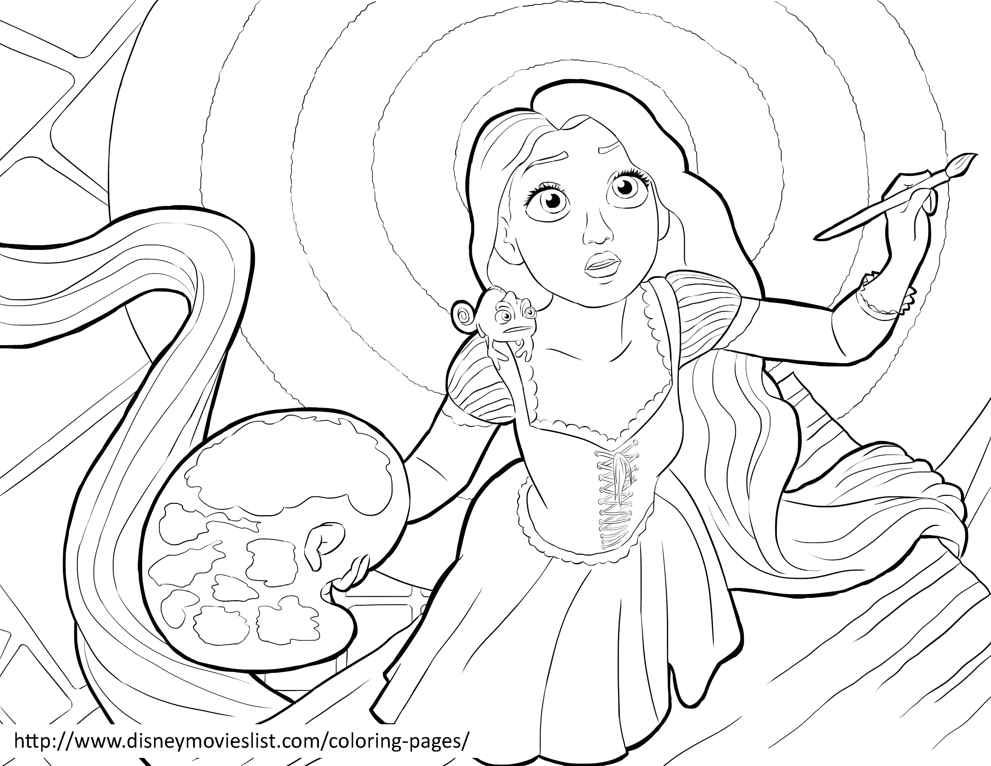 3300x2550 Paint Brush Coloring Page