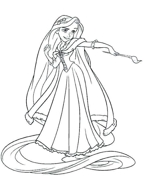576x770 Paint Brush Coloring Page Coloring Page Girl With Paint Brush