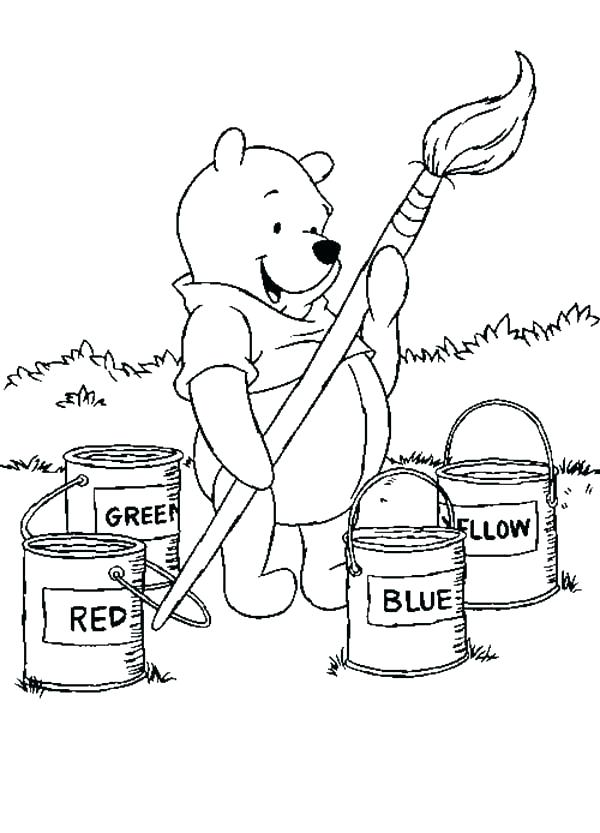 600x833 Paint Brush Coloring Page Paint Brush Coloring Page The Pooh Big