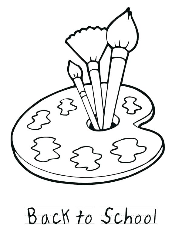 600x776 Paint Brush Coloring Page Paint Coloring Pages Painting Coloring