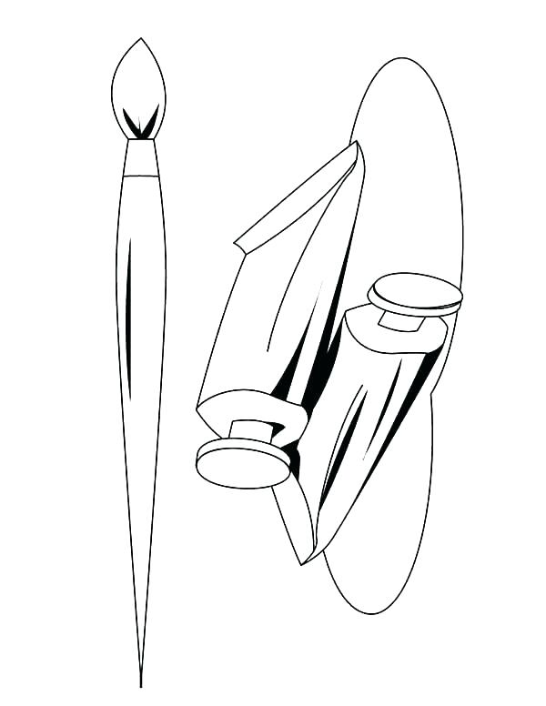 600x776 Paint Brush Coloring Page