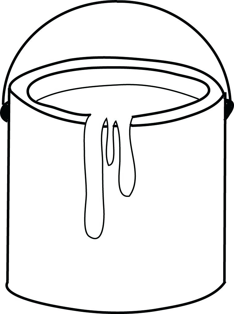 758x1019 Paint Coloring Pages Interesting Paint Brush Coloring Page Paint