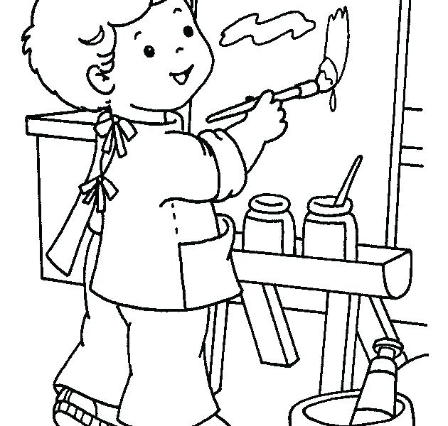 630x600 Painting Coloring Pages Free Paint Brush Coloring Pages Printable