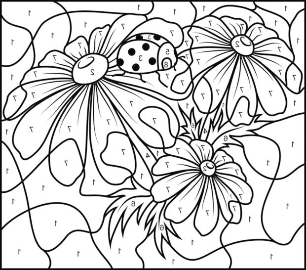 620x546 Paint Number Printables Great Numbers Coloring Pages