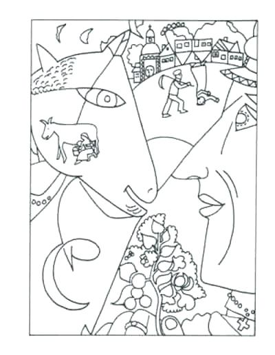 Paint Palette Coloring Pages