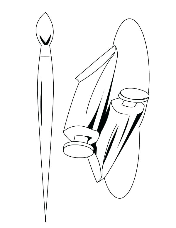 600x776 Paintbrush Coloring Page Printable Coloring Paint Brush Coloring