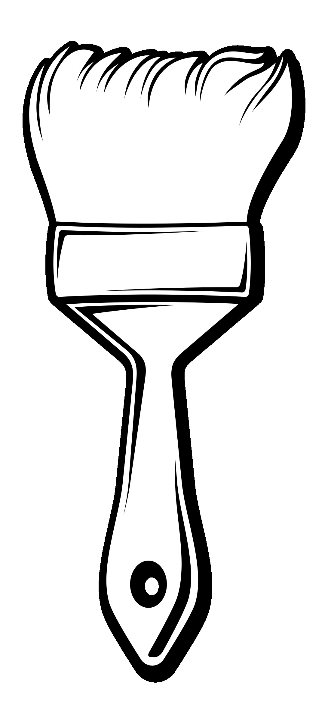 1091x2400 Paintbrush Coloring Pages Incredible