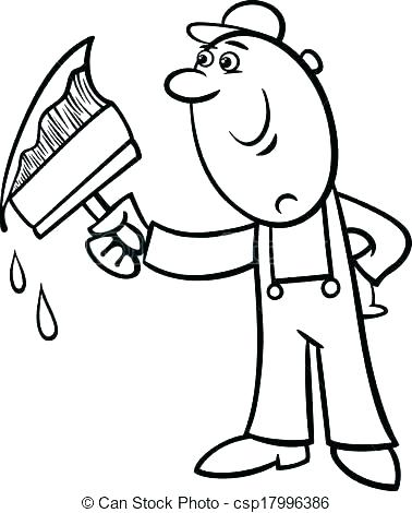 378x470 Paint Brush Coloring Page