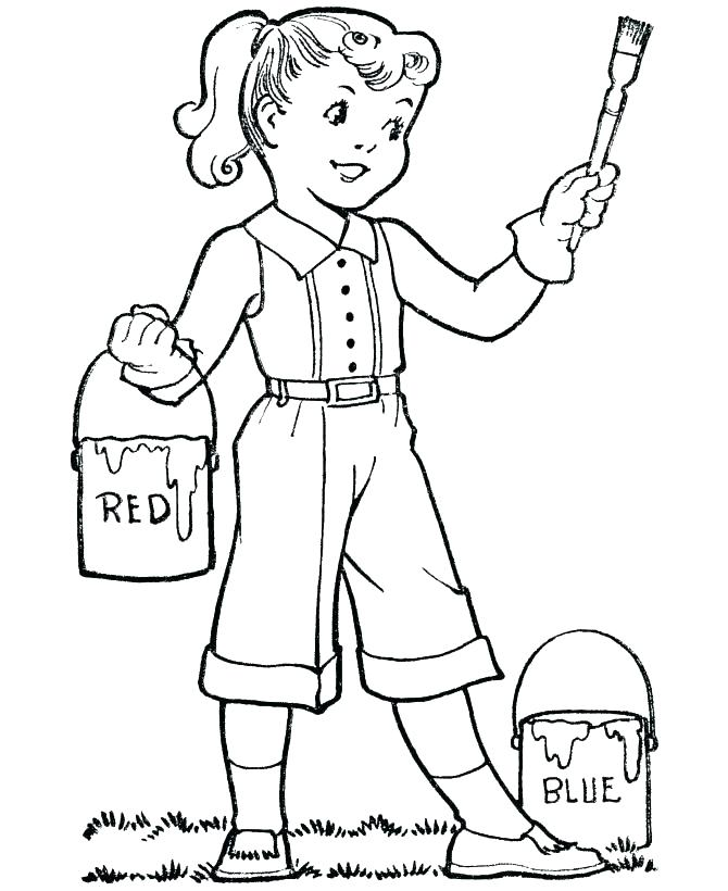 670x820 Paint Brush Coloring Page