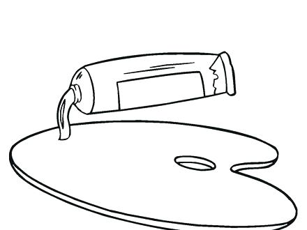 440x330 Free Paint Brush Coloring Pages Printable Coloring Painting