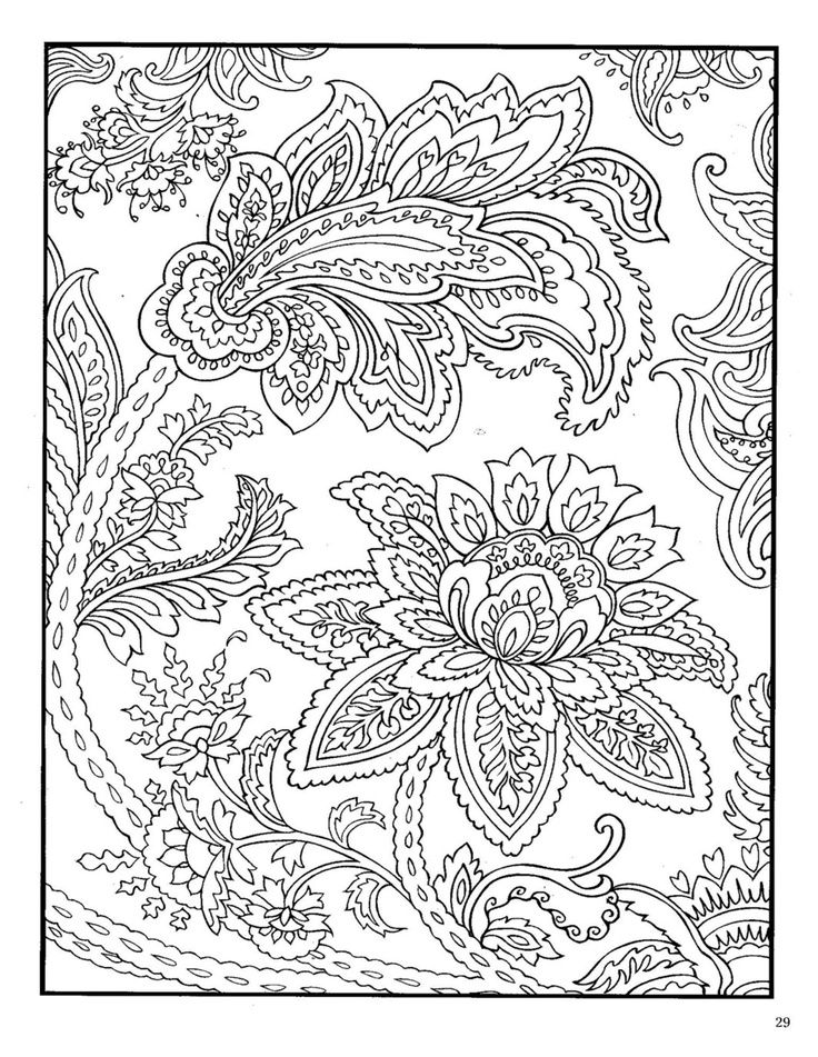 Paisley Animal Coloring Pages
