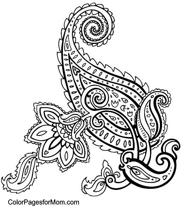 Paisley Mandala Coloring Pages At Getdrawings Com Free For
