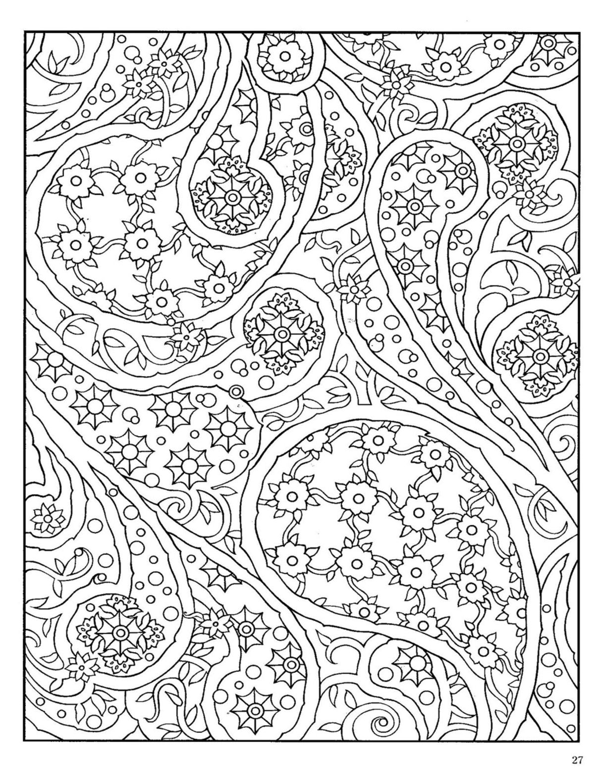 1225x1584 Dover Paisley Designs Coloring Book Dover Coloring