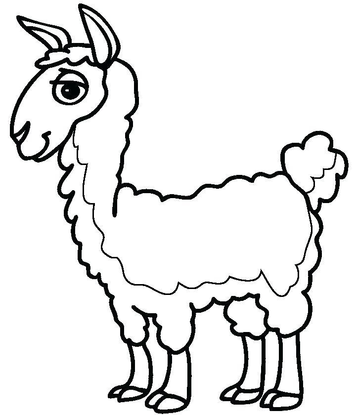 720x840 Llama Coloring Page Llama Coloring Page Coloring Pages Baby Llama