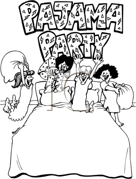 265x350 Pajama Party Coloring Pages