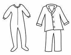236x185 Pajama Printable Coloring Pages Teaching Pyjamas