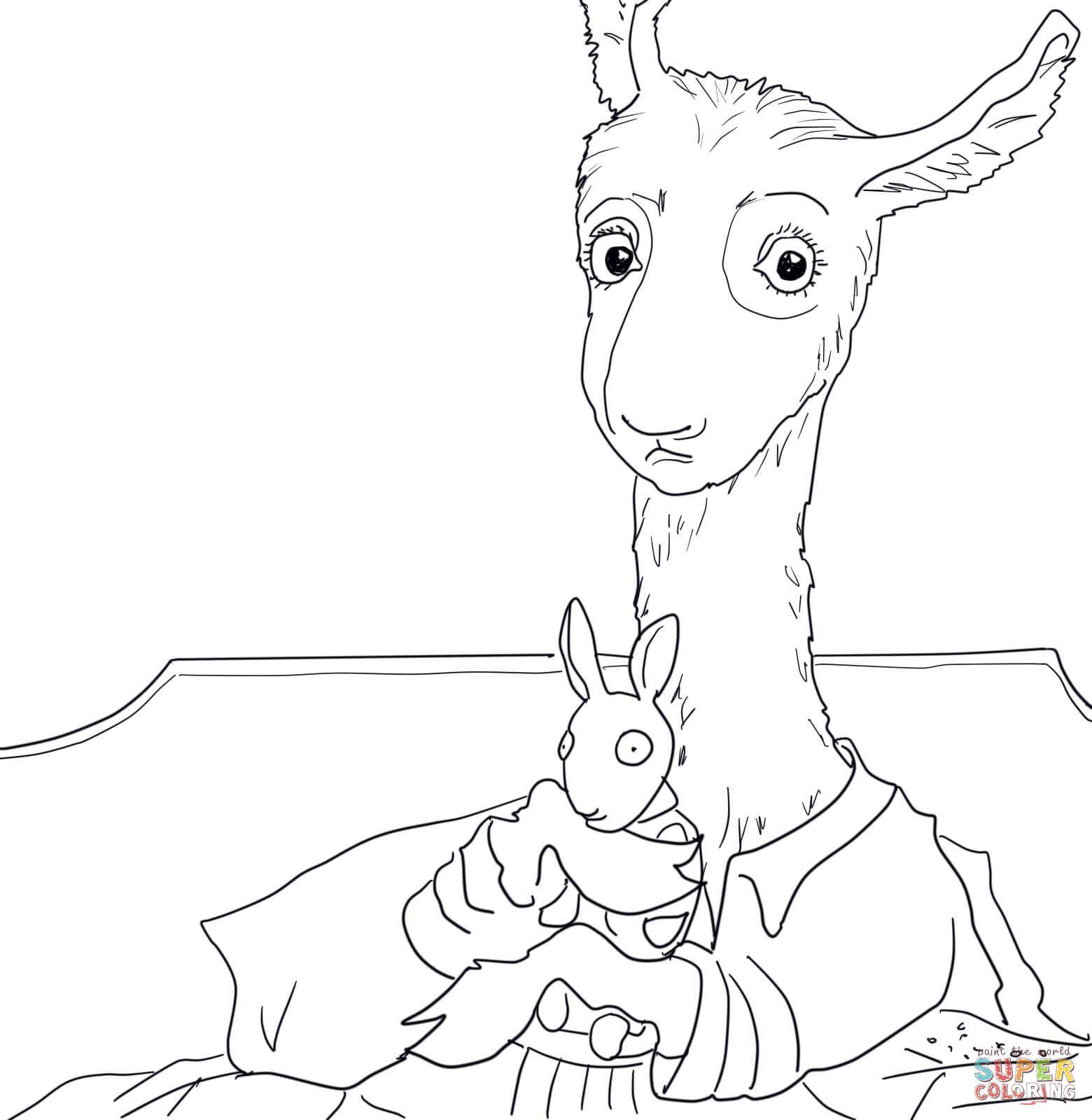 1560x1600 Adult Llama Llama Red Pajama Coloring Page Printable Pages