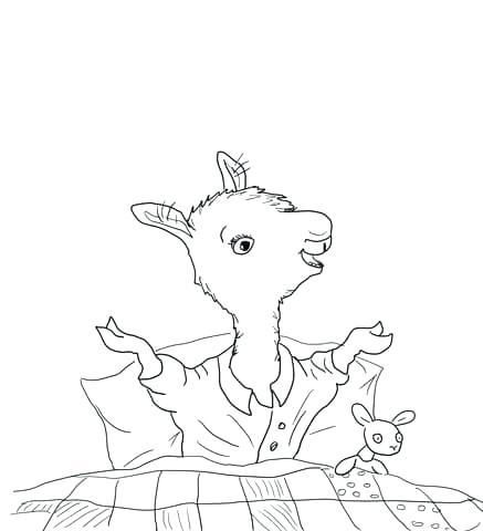 437x480 Llama Llama Coloring Pages Pajama Coloring Sheets Llama Llama