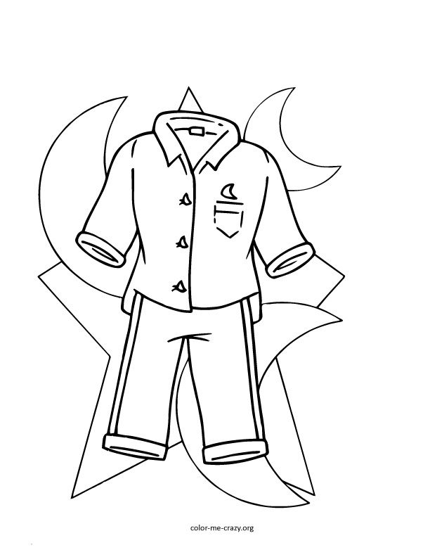 612x792 Pajama Coloring Pages Girls Favorite Things Coloring Pages