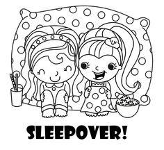 Pajama Party Coloring Pages