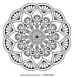 236x246 Mandala, Vector Mandala, Floral Mandala, Flower Mandala, Oriental